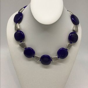 Stunning one of a kind blue necklace